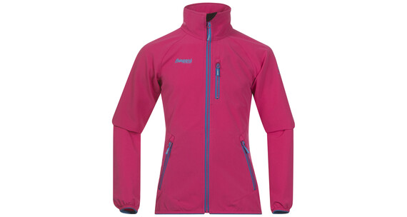 Bergans Youth Girl Kjerag Jacket Hot Pink/Lt SeaBlue/Br SeaBlue